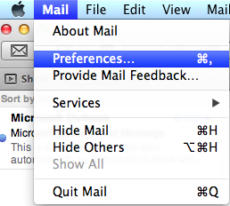 Email - Apple Account Preferences Image