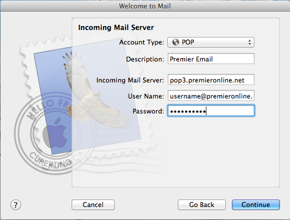 Email - Apple Incoming Mail Server Image