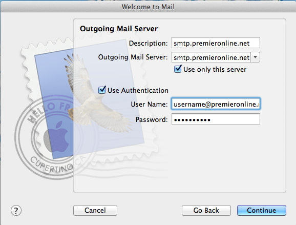 Email - Apple Outgoing Mail Server Image